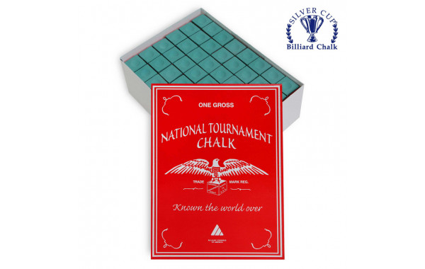 Мел Silver Cup National Tournament Chalk Green 144шт. 600_380